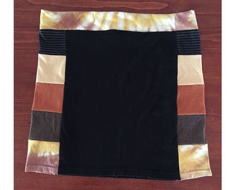 Black with Side Colors T-Shirt Skirt, Size L