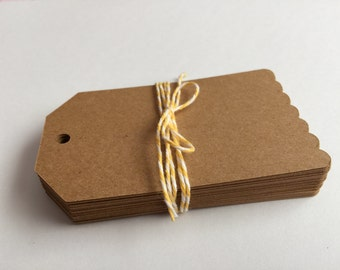 50 Kraft Tags, Rustic Wedding Tags, Kraft Gift Tags, Wedding Favor Tags, Craft Tags, Scrapbooking, Card Making