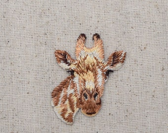 Giraffe Head - Face - Embroidered Patch - Iron on Applique - 1516641-A