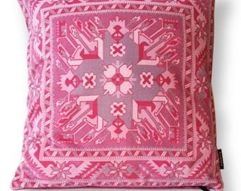 Sofa pillow pink velvet cushion cover MAGNOLIA