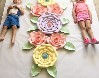 Large paper flower backdrop - paper flowers - paper flower backdrop