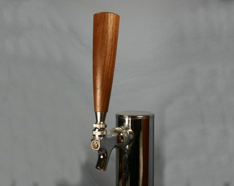Wood Beer Tap Handle - Black Walnut - 6 Inches Tall - Made To Order