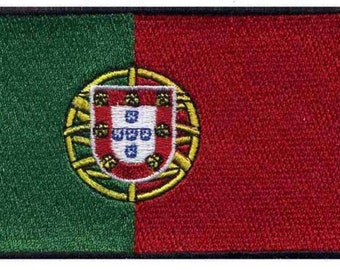 Portugal Flag Iron On Patch 3x2 inch Free Shipping