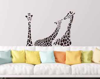 Giraffe Wall Decal, Vinyl Wall Stickers For Modern Wall Design For Home  Decor