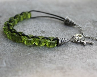 Green but not with Envy Catholic Christian Prayer Bracelet Movable Good Deed Beads