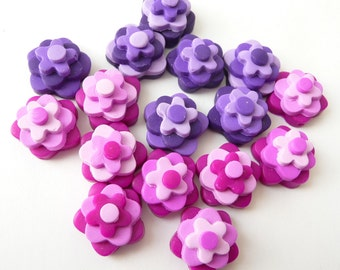 Beads Boho Pink, Beads Flower Pink, Flower Purple Beads, Boho Flower Beads, Polymer Clay Beads, Flowers Pink Purple, Beads Boho Purple
