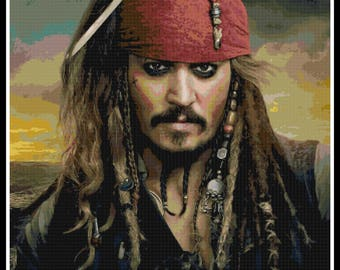 Pirates of the Caribbean Cross Stitch - Jack Sparrow - Disney - PDF Download