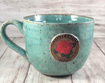 Clintonville Ohio Mug | Columbus Ohio | Ceramic Mug | Housewarming Gift |  Speckled Pottery | Whetstone Park of Roses