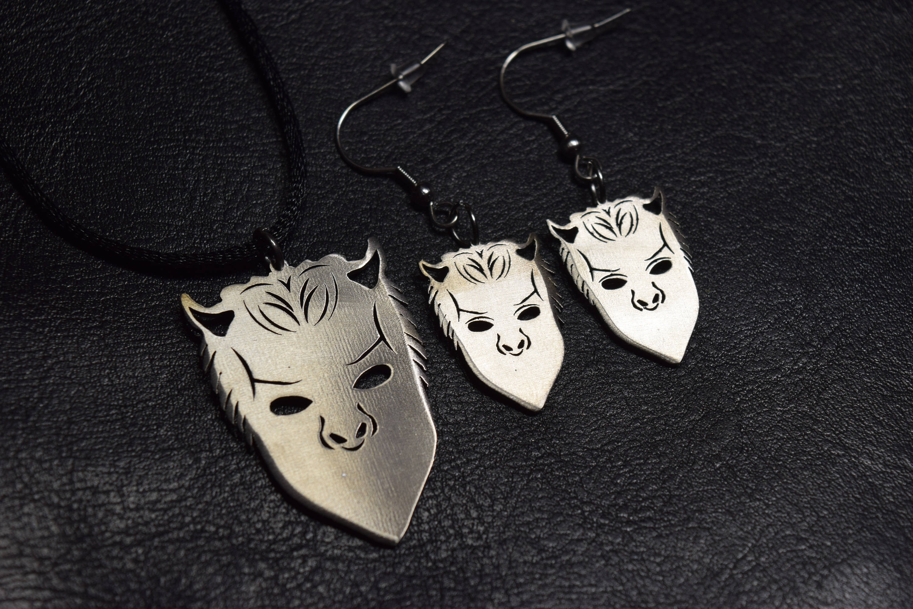 nameless il listing set ghost fullxfull necklace ghoul zoom bc earrings