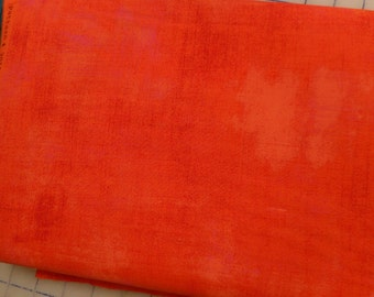 Grunge  fabric - tangerine - reduced