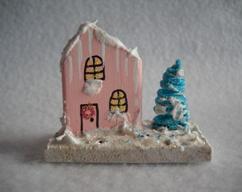 Handmade, Christmas village, mini houses, Christmas decoration, miniatures, Christmas miniatures, miniature village, doll house miniatures