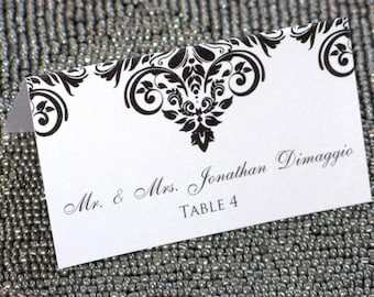 Vintage Damask Placecard - SAMPLE