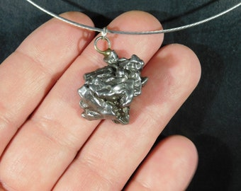 A Big Authentic Meteorite Made into a Pendant or Necklace a Falling Star! 3.12