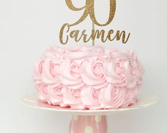Related to this item  sc 1 st  Etsy & Items similar to 90 and fabulous cake topper 90 birthday ...