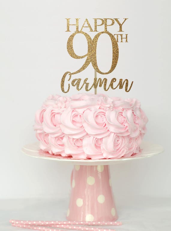 90 and fabulous cake topper 90 birthday decorations 90