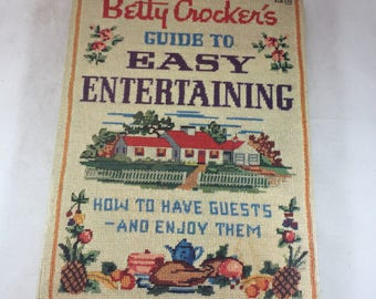 Betty Crocker Cookbook - Guide to Easy Entertaining - First Edition - 1950s Cookbook - Party Cookbook - Hostess Book - Mid Century