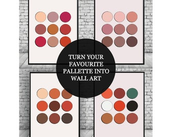 Eyeshadow Palette;Makeup;Morphe;Mac;Anastasia Beverly Hills;Juvias Place;Home Decor;Wall Hanging;Print;Poster;Wall print