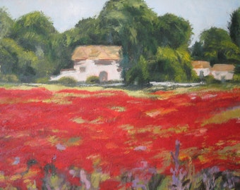 Original Oil Paintings poppy fields