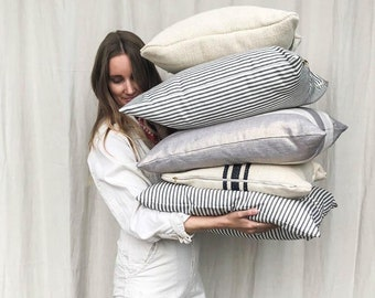 Striped Pillow Cover