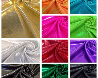 Shiny Finger Foil 4 Way Stretch Nylon Spandex Fabric - 58 to 60 Inches Wide - By the Yard or Bulk