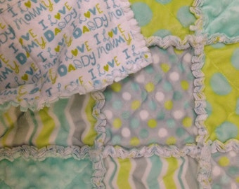 Baby rag quilt (micro fleece/flannel)