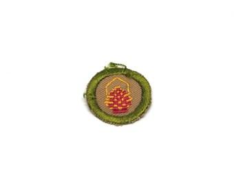 Vintage Merit Badge 1930s Boy Scout Basketry Patch Khaki