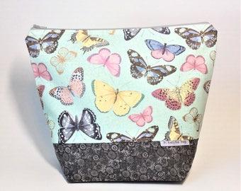 Medium Project Bag 1-2 Skein size - Butterflies