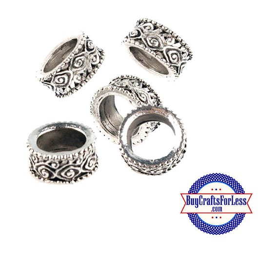 BEADs, Silver Alloy LACE Pattern, 12 or 24 pcs +FREE SHiPPing & Discounts*
