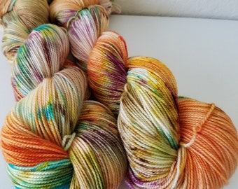 OOAK: Mosaic on Strong Sock – Hand Dyed Yarn