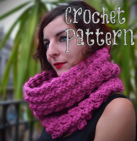 Crochet Pattern Crochet Cowl Billowy Stitch Oversized Scarf