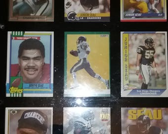 Junior Seau (Chargers) Custom 9 Card Lot--you pick--In a Wall Mountable Display Case
