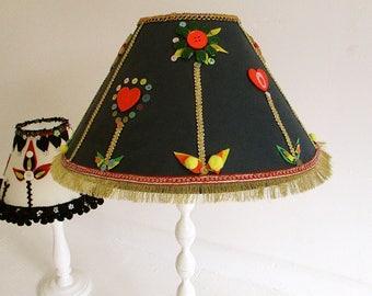 Tribal lamp shade etsy bespoke hand decorated custom made lampshadetribalethnicshabby chicfolk art mozeypictures Image collections
