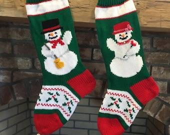 Hand Knit Wedding Gift Christmas Stocking