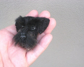 Pet Gift  Custom Dog Pin / Needle Felted Portrait of Your Pet / Personalized just for You