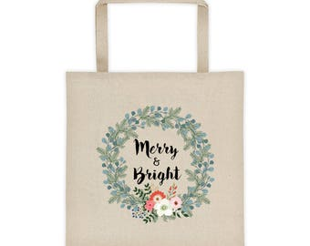Merry & Bright Holiday Tote bag