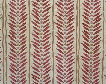 Hand Printed Fabric - Block Print Fabric - Hand Block Fabric - By The Yard - Linen