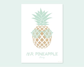 A4 print MR. PINEAPPLE Jimmy