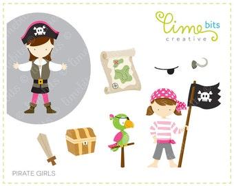 Pirate Girls Clip Art
