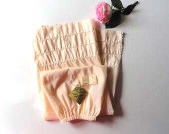 NWT I Magnin Beige Half Slip Small Petite, 1980s Poly Nylon Tafredda Side Slit