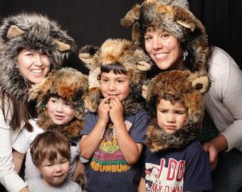 Wolf Hat, Child Costume, Wolf Costume, Wolf