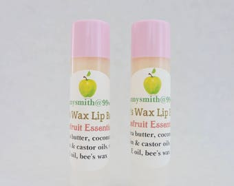 Sweet Bee's Wax Natural Lip Balm, Grapefruit Essential Oil, Coconut Oil Lip Balm / 2 - 0.15 oz. tubes