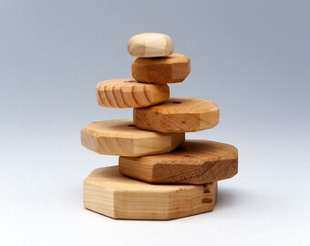 Wooden Pyramid - Eco Wood - Active Toys - Educational Toys - Wooden Baby Toys - Wooden Kids Toys - Wood pyramid toy - Active Toys