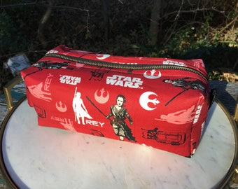 Toiletry Bag - Star Wars- Rey- The Last Jedi- The Force Awakens - School Supplies - Electronics case- Valentine's Day Gift
