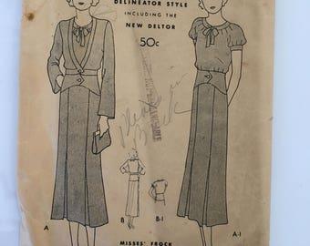 Vintage Butterick dress pattern
