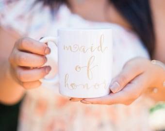 Maid of Honor Mug - Maid of Honor Gift - Matron of Honor Mug - Maid of Honor Proposal - Maid of Honor Gift - Wedding Party Mug