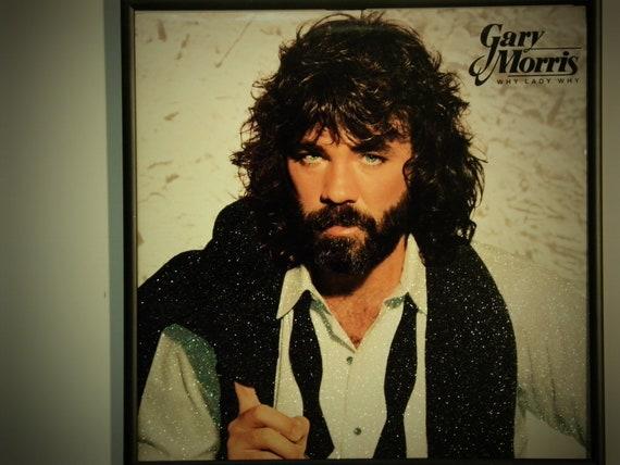 Glittered Record Album - Gary Morris