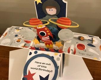 Astronaut Birthday Card in a Box