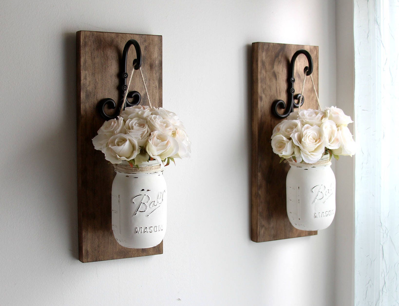 Rustic Home Decor Mason Jars Sconce Rustic Sconces Rustic