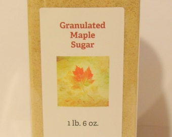Granulated Maple Sugar, 1 lb. 8 oz.