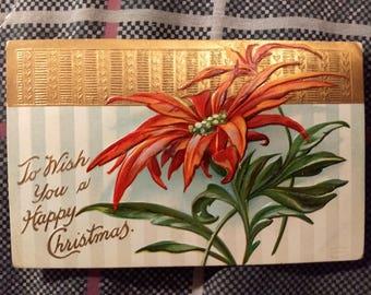 Vintage 1910 Happy Christmas Postcard Series No. 1045